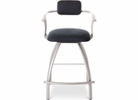 Kris Swivel Bar Stool with Armrests - Amisco - 40494-24