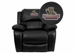 Kutztown University Golden Bears Embroidered Black Leather Rocker Recliner  - MEN-DA3439-91-BK-41042-EMB-GG