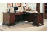 L-Shaped Desk in Dark Cherry - Coaster