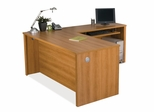 L-Shaped Desk Set 1 in Cappuccino Cherry - Embassy - Bestar Office Furniture - 60852-68