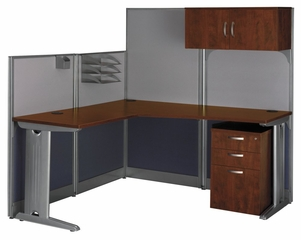 L-Workstation Set 1 - Office-in-an-Hour Collection - Bush Office Furniture - OIAH-SET-2