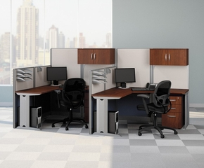 L-Workstation Set 2 - Office-in-an-Hour Collection - Bush Office Furniture - OIAH-SET-6