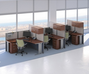 L-Workstation Set 3 - Office-in-an-Hour Collection - Bush Office Furniture - OIAH-SET-8