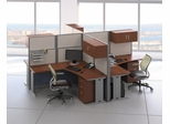 L-Workstation Set 4 - Office-in-an-Hour Collection - Bush Office Furniture - OIAH-SET-9