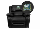 La Salle University Explorers Embroidered Black Leather Rocker Recliner  - MEN-DA3439-91-BK-41043-EMB-GG