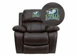 La Salle University Explorers Leather Rocker Recliner - MEN-DA3439-91-BRN-41043-EMB-GG