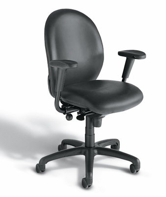 La-Z-Boy Task Advantage Office Chair - High Back Task Office Office Chair with Carbon Leather-Finesse Cover - L8464TLCB