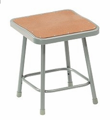 "Lab Stool - 18"" Stool with Hardboard Seat - National Public Seating - 6318"