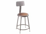 "Lab Stool - 19""-27 Adjustable Stool with Backrest - National Public Seating - 6218HB"