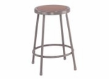 "Lab Stool - 24"" Stool with Hardboard Seat - National Public Seating - 6224"
