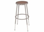 "Lab Stool - 25""-33"" Adjustable Stool with Hardboard Seat - National Public Seating - 6224H"
