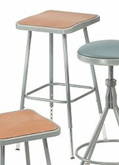 "Lab Stool - 25""-33"" Adjustable Stool with Hardboard Seat - National Public Seating - 6324H"