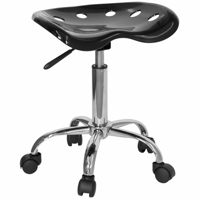 Lab Stool in Black - LF-214A-BLACK-GG