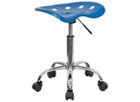 Lab Stool in Bright Blue - LF-214A-BRIGHTBLUE-GG