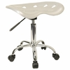 Lab Stool in Silver - LF-214A-SILVER-GG