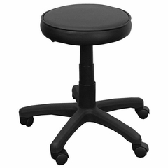 Lab Stool with Black Vinyl Seat with Gas Lift - KC96G-GG