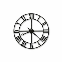 Lacy II Wall Clock in Dark Charcoal Grey - Howard Miller