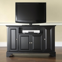 "LaFayette 48"" TV Stand in Black Finish - Crosley Furniture - KF10002BBK"