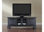 "LaFayette 60"" Low Profile TV Stand in Black - CROSLEY-KF10005BBK"