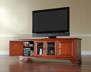 "LaFayette 60"" Low Profile TV Stand in Classic Cherry - CROSLEY-KF10005BCH"