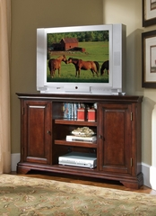 Lafayette Corner Entertainment TV Stand in Cherry - Home Styles - 5537-07