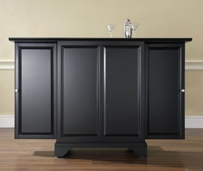 LaFayette Expandable Bar Cabinet in Black Finish - Crosley Furniture - KF40001BBK
