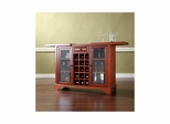 Lafayette Sliding Top Bar Cabinet in Classic Cherry - CROSLEY-KF40002BCH