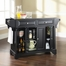 LaFayette Solid Black Granite Top Kitchen Island in Black Finish - Crosley Furniture - KF30004BBK