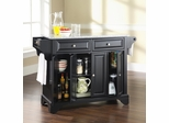 LaFayette Solid Granite Top Kitchen Island in Black Finish - Crosley Furniture - KF30003BBK