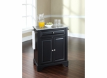 LaFayette Solid Granite Top Portable Kitchen Island in Black - CROSLEY-KF30023BBK