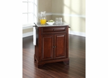 LaFayette Solid Granite Top Portable Kitchen Island in Vintage Mahogany - CROSLEY-KF30023BMA