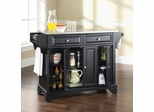LaFayette Stainless Steel Top Kitchen Island in Black Finish - Crosley Furniture - KF30002BBK