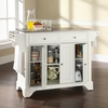LaFayette Stainless Steel Top Kitchen Island in White Finish - Crosley Furniture - KF30002BWH
