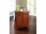 LaFayette Stainless Steel Top Portable Kitchen Island in Classic Cherry - CROSLEY-KF30022BCH