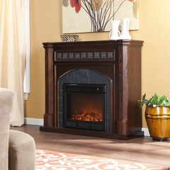 Lake Austin Espresso Electric Fireplace - Holly and Martin