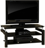 Lake Point Panel TV Stand Black / Black - Sauder Furniture - 408050