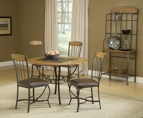 Lakeview 5-Piece Round Dining Set with Wood Chairs in Brown - Hillsdale Furniture - 4264DTBRDCW