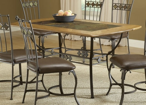 Lakeview Rectangle Table in Brown/ Medium Oak - Hillsdale Furniture - 4264DTBRT