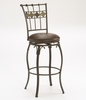 Lakeview Swivel Counter Stool - Slate Accent in Brown - Hillsdale Furniture - 4264-826