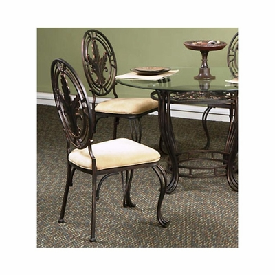 Lanai Side Chair - Set of 2 Black / Gold Hand-Brushed Accents - Largo - LARGO-ST-D188-41