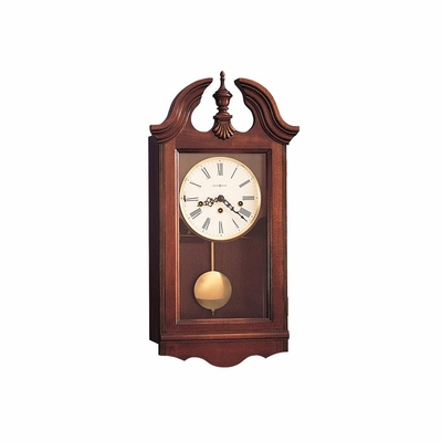 Lancaster Chiming Wall Clock in Windsor Cherry - Howard Miller