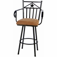 Lancaster Swivel Counter / Bar Height Stool Bronze - Largo - LARGO-ST-D141-2X