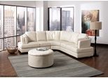 Landen Contemporary Curved Leather Sectional - 503103
