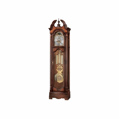 Langston Grandfather Clock in Windsor Cherry - Howard Miller