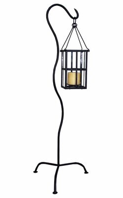 Lantern Stand - Black - Pangaea Home and Garden Furniture - FM-C4159-K