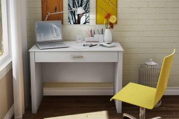 Laptop Desk in Pure White - Work ID - South Shore Furniture - 7050795