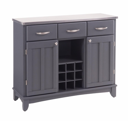 Large Buffet with Stainless Top in Grey - Home Styles - 5100-0082