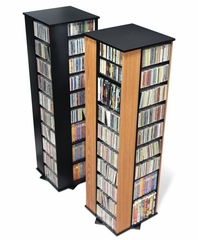 Large Four Sided Spinning Tower in Black - Prepac Furniture - BMS-1060