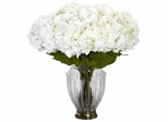 Large Hydrangea with European Vase Silk Flower Arrangement - Nearly Natural - 1255