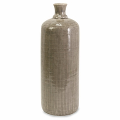 Large Kempton Grey Jar - IMAX - 64068